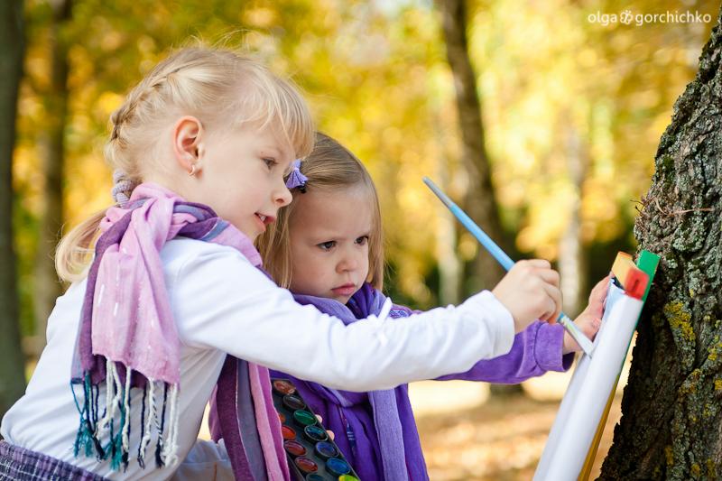 Осенняя фотосессия Карины и Маргариты
