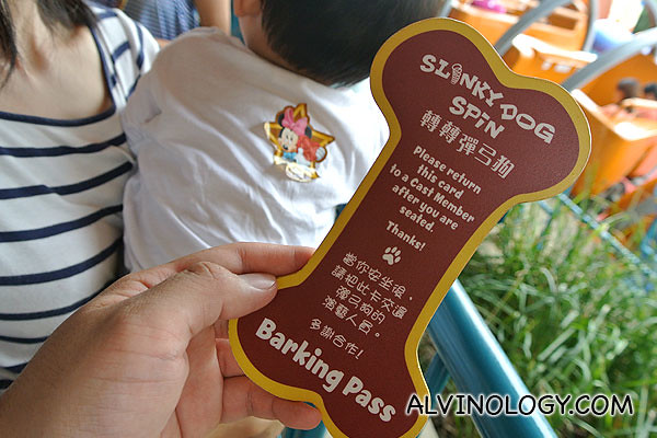 Barking Pass for the Slinky Dog
