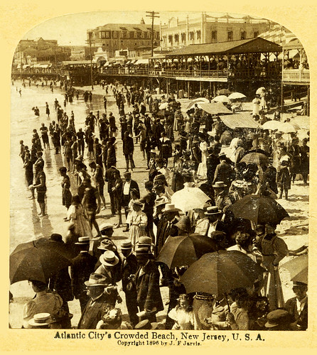 On the Beach,  Atlantic City, New Jersey, 1896