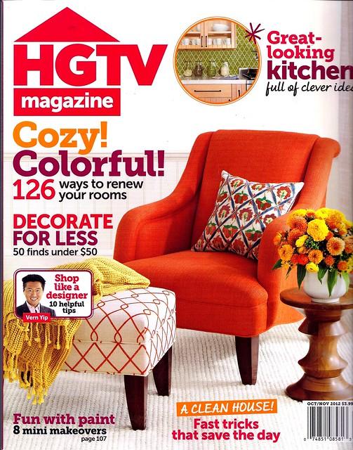 HGTV Mag cover  Oct 2012