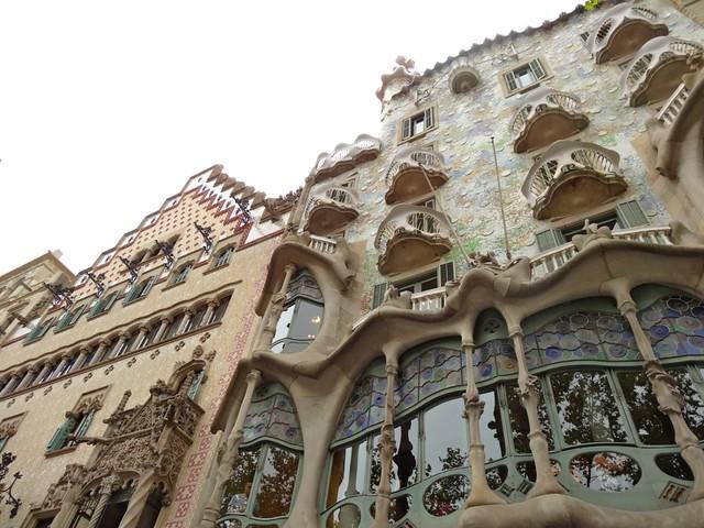 Cadafalch and Gaudi, Passeig de Gracia, Barcelona