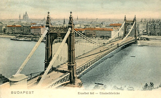 Budapest - Elizabeth Bridge (1913 Postcard)