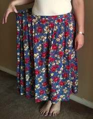 Ruffled Floral Skirt - Before