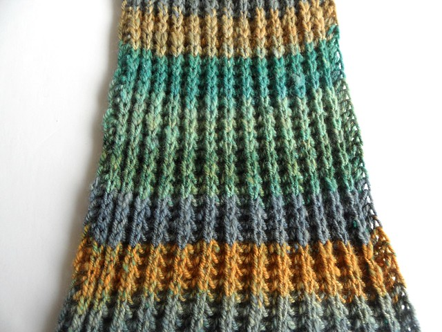 FCK-Quackenbush scarf-6x130 inches-Polwarth-chain plied