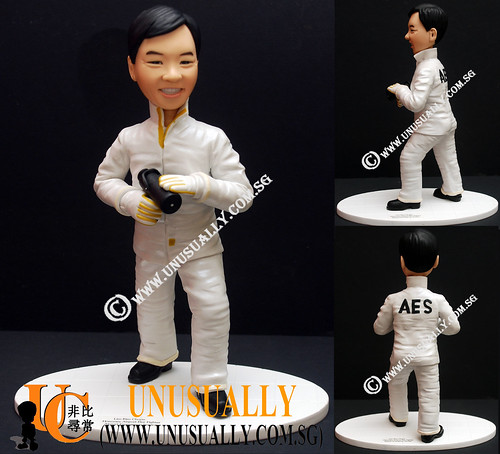 Fully Personalized 3D AES Fighter Figurine - © www.unusually.com.sg