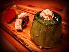 Matcha pudding with green tea, whipped cream, azuki, and strawberry @NipponCha #Queens #WorldsFair