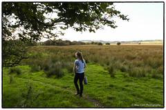 Abi on the riverside walk at Cors Caron