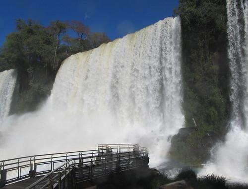 Les chutes d'Iguazu: la chute Bossetti. Ca mouille !