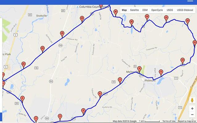 philmont ghent 23 miles