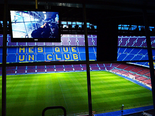 Football Pitch from Press Box, Camp Nou, Barcelona