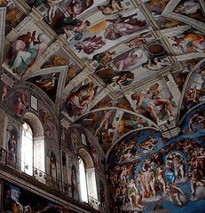 The Sistine Ceiling above the altar