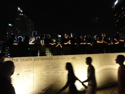 The Tampa Riverwalk wall of honor