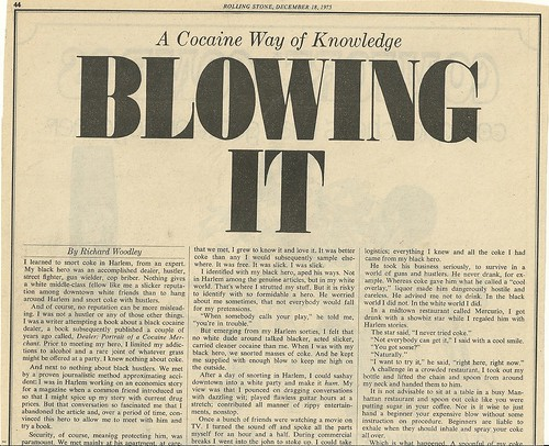 12/18/75 Rolling Stone Magazine (Blowing It - 3/6)