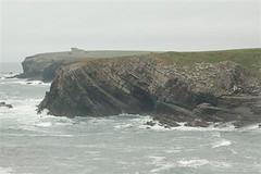 Manorbier coast - limestone formations