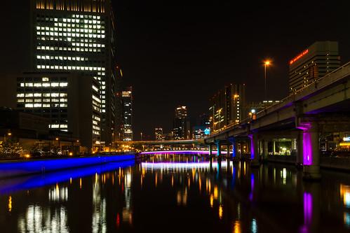 japan night 大阪 日本 osaka 夜景 淀屋橋
