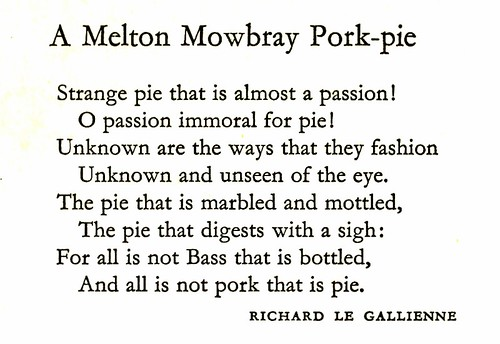 Eating and Drinking - A Melton Mowbray Pork-pie