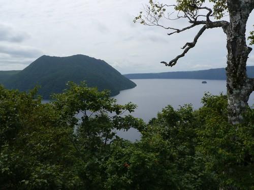 裏摩周展望台から摩周湖を眺める