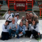 G Adventures Group with Japanese School Kids - Kyoto