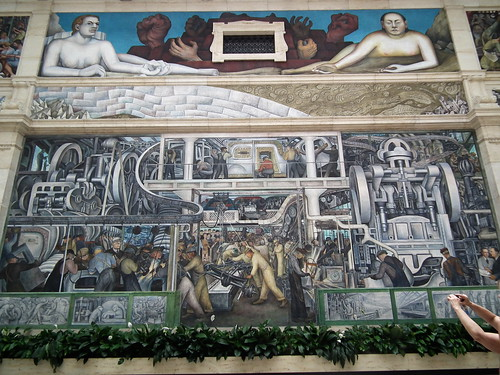 Gustavo thomas theatre detroit industry a diego rivera for Detroit rivera mural