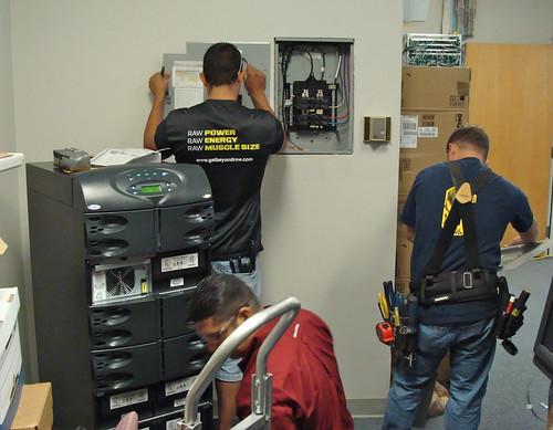 Marmot UPS installation crew