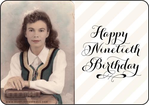 maw maw's 90th birthday