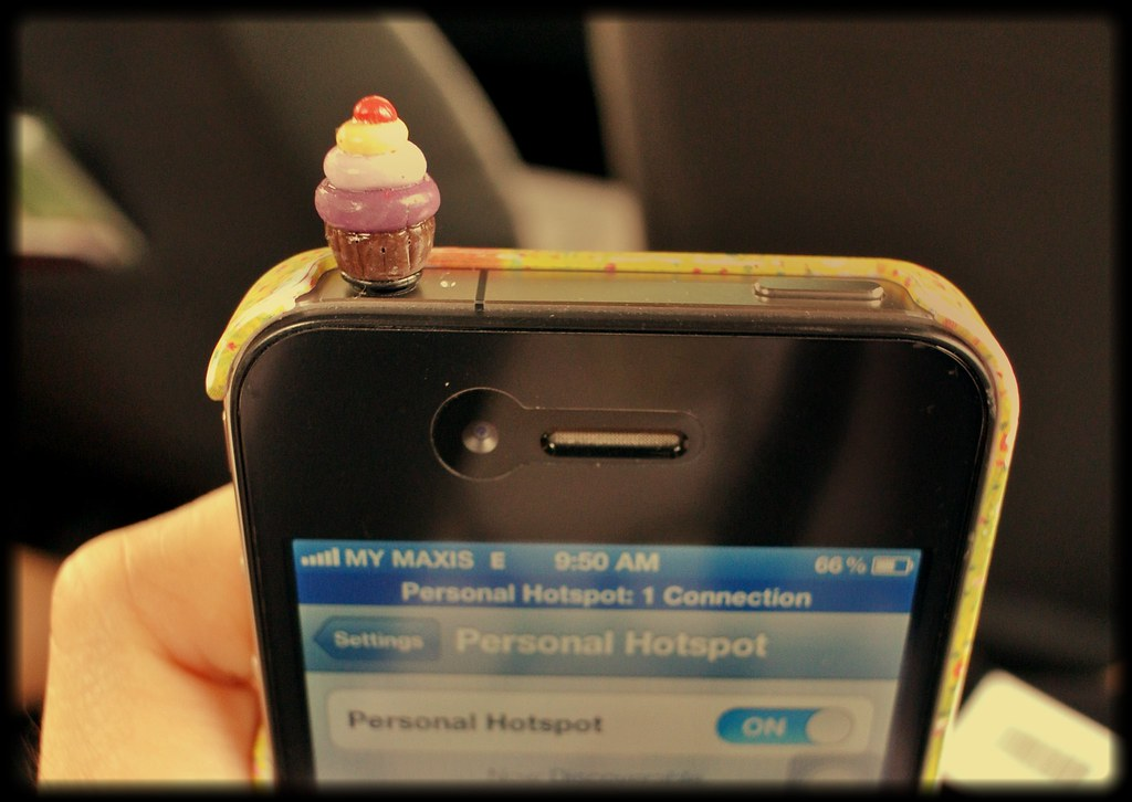 polymer clay cupcake iphone earjack stopper