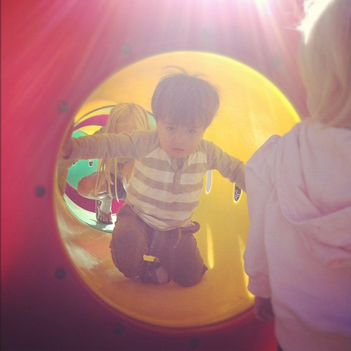 Harry made some friends at the playground. #latergram