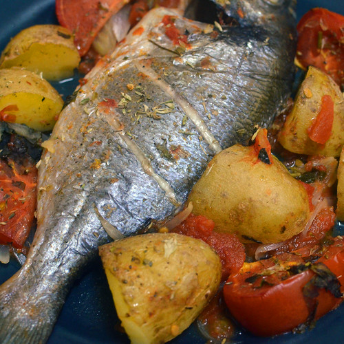 Mediterranean Flavours - Fish in the Oven by Hugo Alexandre Cruz