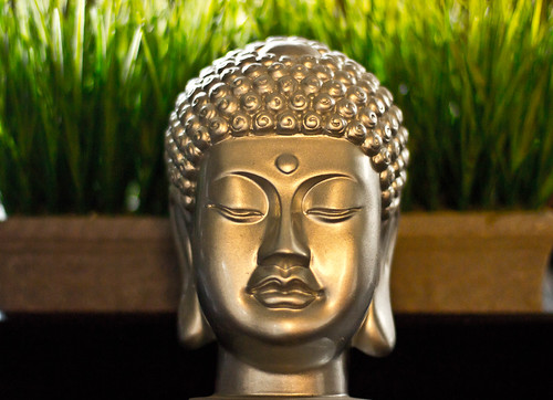 Buddha in the grass