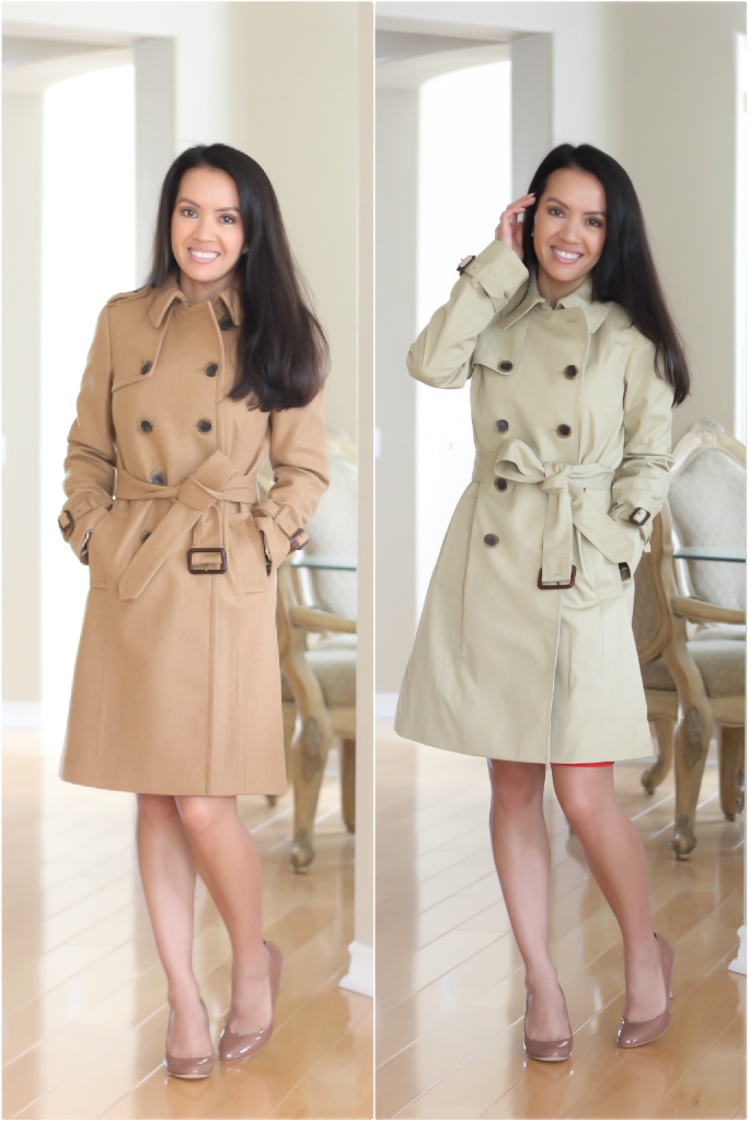 Review: J.Crew Icon Trench vs. Wool Cashmere Icon Trench