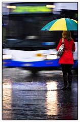 Rainy day traffic Sydney