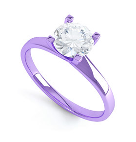 purple gold engagement ring purple gold engagement ring