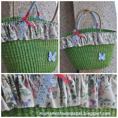 bolso de paja hecho a mano color pistacho