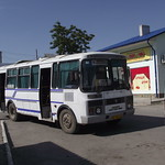 Alter Autobus in der Ukraine