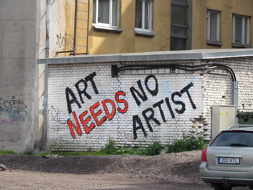 Art needs no artist