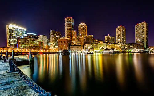 Boston Harbor Skyline from Fan Pier in South Boston