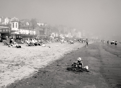 misty morning in Scarborough