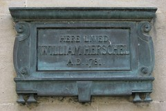 Photo of William Herschel bronze plaque