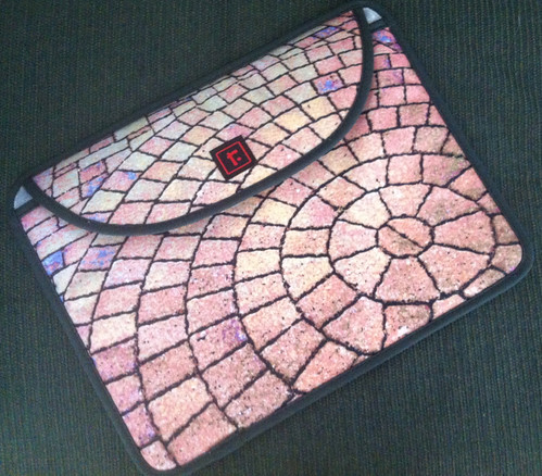 Laptop Sleeve with Stone Spiral Design by randubnick