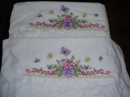 Pansy pillowcases