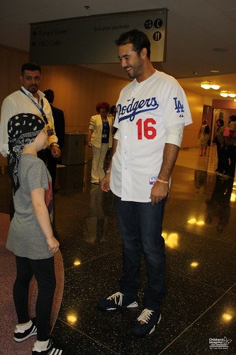 A visit from Andre Ethier of the Los Angeles Dodgers