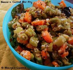 Beans n Carrot stir fry