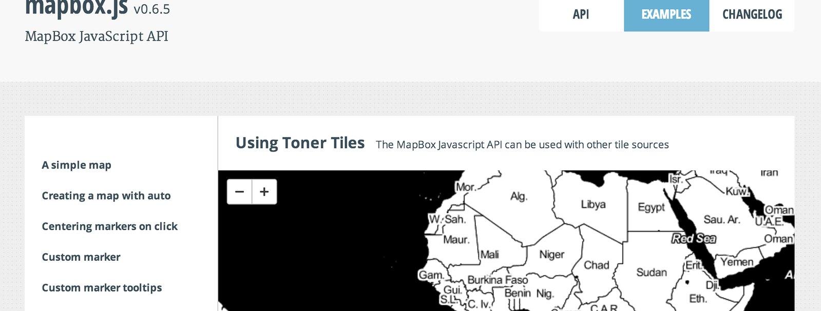 MapBox With Stamen Toner Tiles