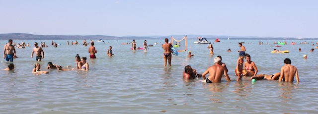Lake Balaton bathers