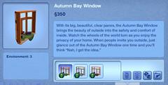 Autumn Bay Window