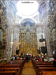 Inside Sta. Prisca Church in Taxco
