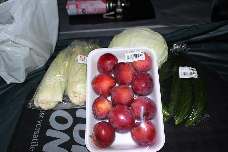 購入した野菜と果物