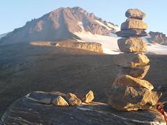 Glacier cairn