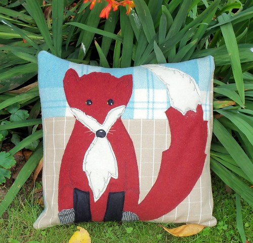 Fox Cub Cushion Cover