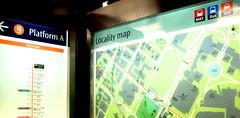Singapore subway station locality map